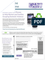 NCADV Donate a Phone Web Mailing Label 2010