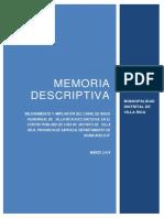 MEMORIA DESCRIPTIVA CANAL VILLARICA.pdf