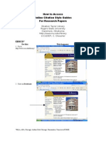 How to Access Online Citation Guides 2007