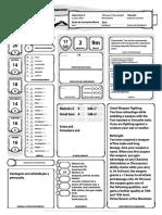D&D 5E - Ficha de Personagem Completável Anão Diplomata