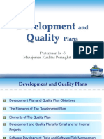 5. Development and Quality Plan