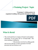 Summer Training Project Topic