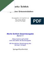 Moritz Schlick - Allgemeine Erkenntnislehre.pdf
