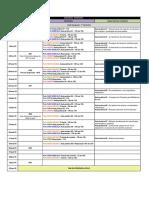 Cronograma Química VI 2019.1