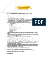 Wedding Coordination Services