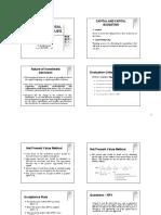 4 - Project Appraisal Techniques