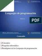 SIS051 - Sem01 - Lenguajes de Programación