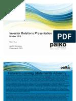 Investor Relations Presentation October 2010