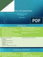Philosophy of Emotions