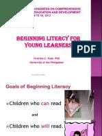 ECCD, Beginning Literacy.ppt