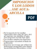 Composicion de Los Lodos Base Agua-Arcilla
