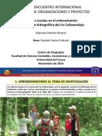 Saberes Locales en cuenca Cañaveralejo