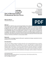 Brivot - 2011 - Controls of Knowledge Production , Sharing and Use in Bureaucratized Professional Service Firms