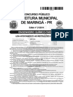 2014 - Pref. Maringá Pr Prova (Fafipa)