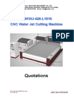 CNC Table Waterjet Cutting Machine
