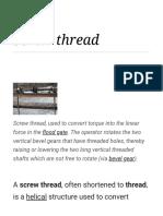 Screw Thread - Wikipedia