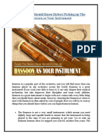 Things You Should Know Before Picking up The Bassoon as Your Instrument