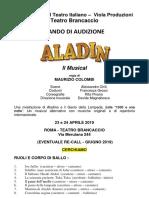 Bando Audizione Aladin 2019