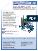 Tiltable Nitrogen and Oxygen Carts