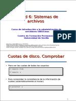 Sistemas de ficheros