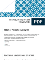 Introduction to Project Organisation