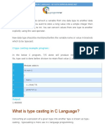 Type Casting in c Language PDF