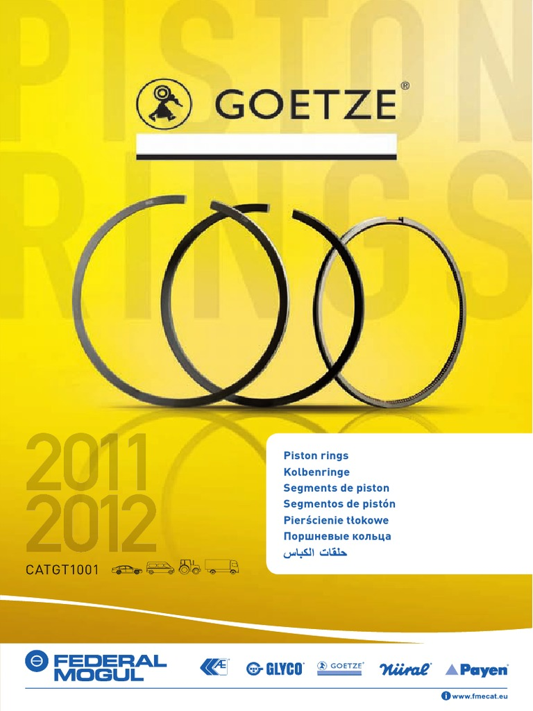 Goetze Engine 08-103800-00 Piston Ring Kit