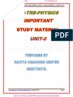 Pg Trb Physics Unit 2 Important Study Matrial Unit II