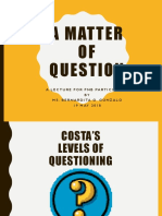Ppt #2 Costa's Levels of Questioning