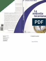 Miller, Jacques-Alain.-. La Angustia Lacaniana (Edit. Paidós).