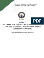 Zoology Syllabus CBCS
