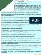 Transport of Animals (Amendment) Rules, 2001