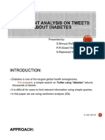 Sentiment Analysis on Tweets About Diabetes