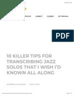 10 Killer Tips for Transcribing Jazz Solos • Jazz Advice