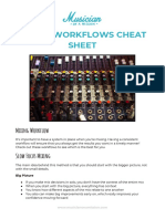 Mixing Workflow Cheat Sheet