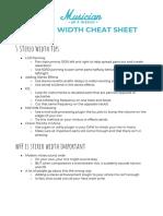Stereo Width Cheat Sheet