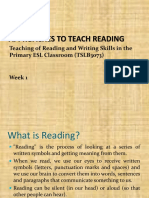 Wk1_Approaches to Teach Reading Week 1 25th June 2018
