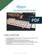 Reverb Cheat Sheet