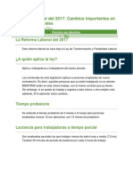 Reforma Laboral Del 2017