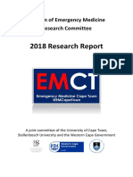 emergency medicine 2018 research report
