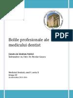 GRUPA 18 - Bolile profesionale ale medicului dentist.pdf