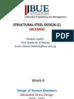 Week 4 - Design of Tension Members (ASD)