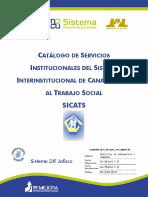 2013 Catalogo Sicats Pdf Trabajo Social Violencia Doméstica