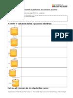 Guía Geometria Volumen Conos y Cilindros