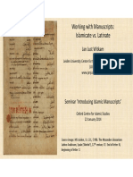 Working With Manuscripts Final Version
