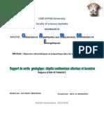 Rapport de Sortie-Depots Continentaux Alluviaux et Lacustres