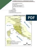 Resumen Tema 7 - Etruscos y Pueblos Italicos - La Monarquia Romana