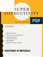 Super Conductivity ١
