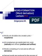 Lecture 4 Word-building in English