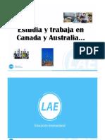 Estudia y Trabaja en Canada o Australia 25 Ene 2019
